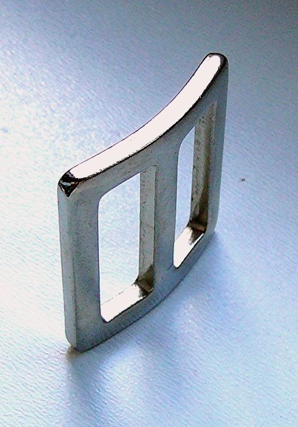 10 Flachdrahtschlaufe Eisen vernickelt 25 mm D-Ring